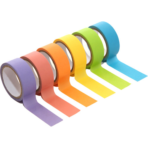 Polaroid Colorful Washi Tape Set (6-Pack)