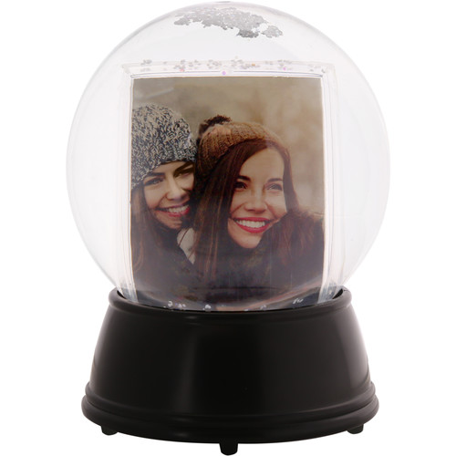 Polaroid LED Light-Up Snow Globe Photo Frame