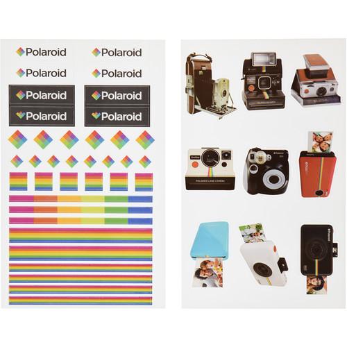Polaroid Scrapbook Stickers (Polaroid Logo)