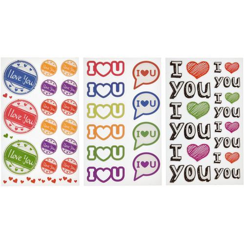 Polaroid Scrapbook Stickers (Love You)