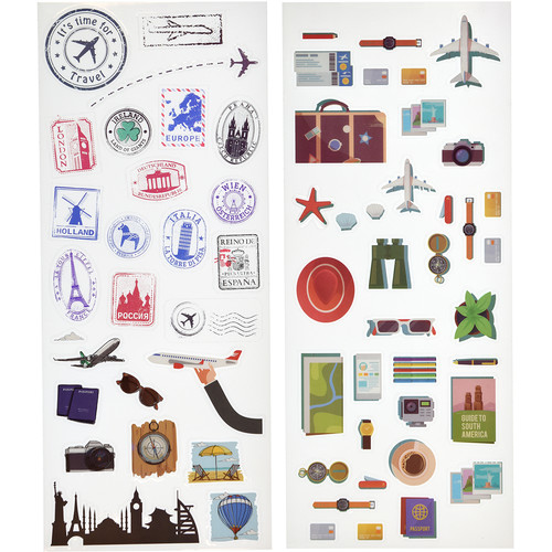 Polaroid Scrapbook Stickers (Travel)