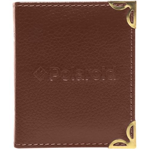 """Polaroid Mini Leatherette Photo Album for 3 x 4"""" Prints (Brown)"""