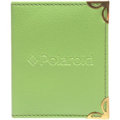 """Polaroid Mini Leatherette Photo Album for 3 x 4"""" Prints (Green)"""