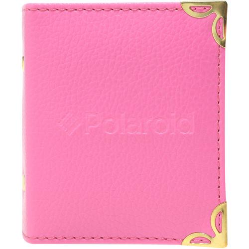 "Polaroid Mini Leatherette Photo Album for 3 x 4"" Prints (Pink)"