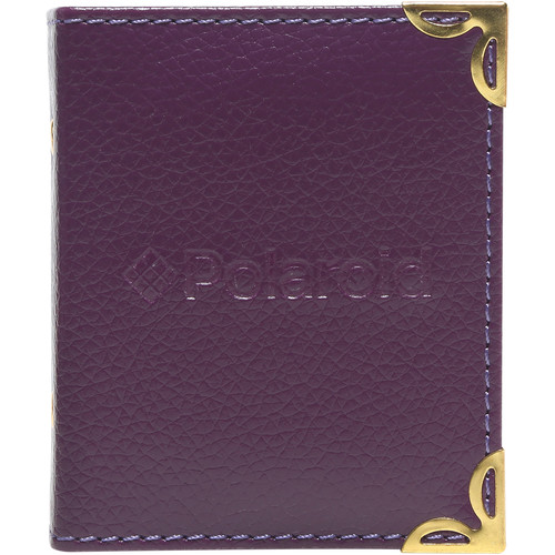 "Polaroid Mini Leatherette Photo Album for 3 x 4"" Prints (Purple)"