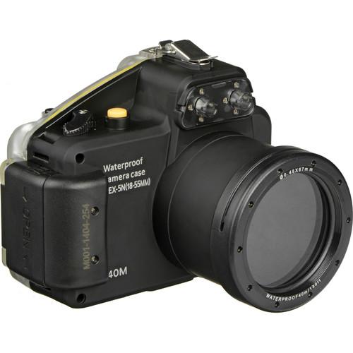 Polaroid Underwater Housing for Sony Alpha NEX-5N Digital Camera and 18-55mm Lens