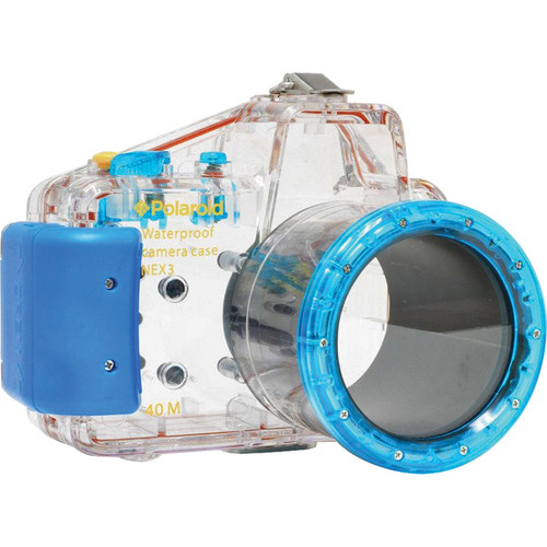Polaroid Underwater Housing for Sony Alpha NEX-C3 and E-Mount 18-55mm f/3.5-5.6 Lens