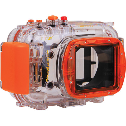 Polaroid Dive-Rated Waterproof Underwater Housing Case for Nikon J1 Digital Camera with 10mm Lens