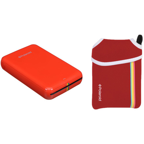 Polaroid ZIP Mobile Printer Kit with Pouch (Red)