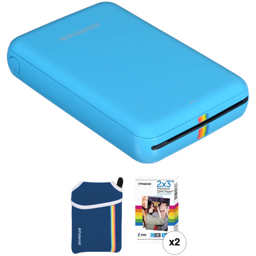 Polaroid Polaroid ZIP Mobile Printer Kit with Pouch and 30 Sheets of Photo Paper (Blue)