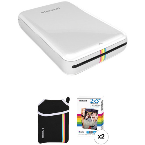 Polaroid Polaroid ZIP Mobile Printer Kit with Pouch and 30 Sheets of Photo Paper (White)