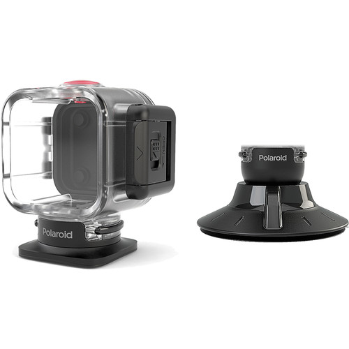 Polaroid Waterproof Case and Suction Mount