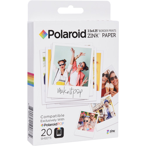 "Polaroid 3.5 x 4.25"" ZINK Photo Paper (20 Sheets)"