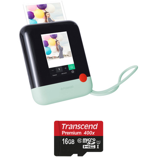 Polaroid Pop Instant Print Digital Camera with Memory Card Kit (Green)