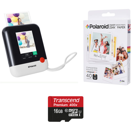 Polaroid Pop Instant Print Digital Camera with ZINK Paper and Memory Card Kit (White)