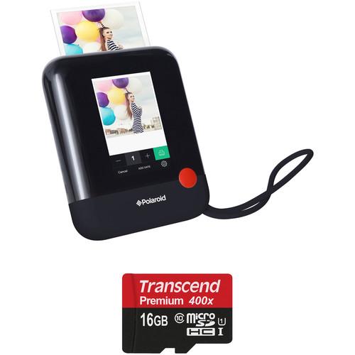 Polaroid Pop Instant Print Digital Camera with Memory Card Kit (Black)