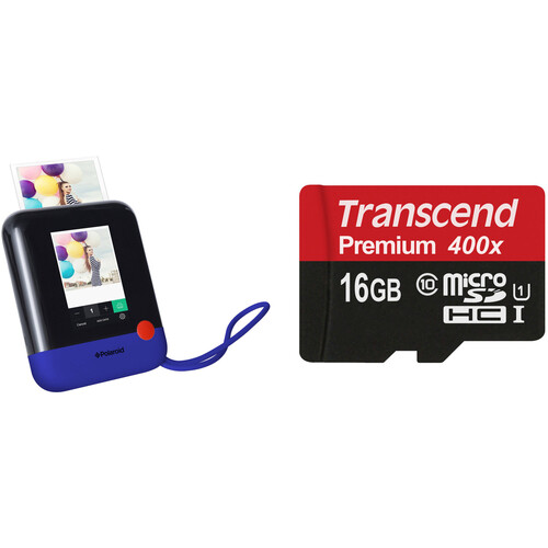 Polaroid Pop Instant Print Digital Camera with Memory Card Kit (Blue)