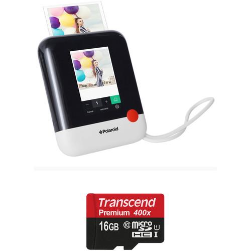 Polaroid Pop Instant Print Digital Camera with Memory Card Kit (White)