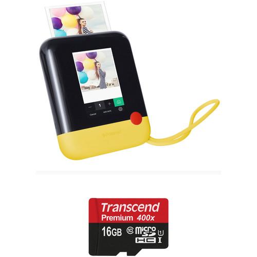 Polaroid Pop Instant Print Digital Camera with Memory Card Kit (Yellow)