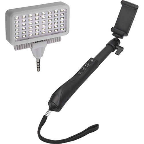 Polaroid Selfie Stick with Mobile LED Light Set Kit
