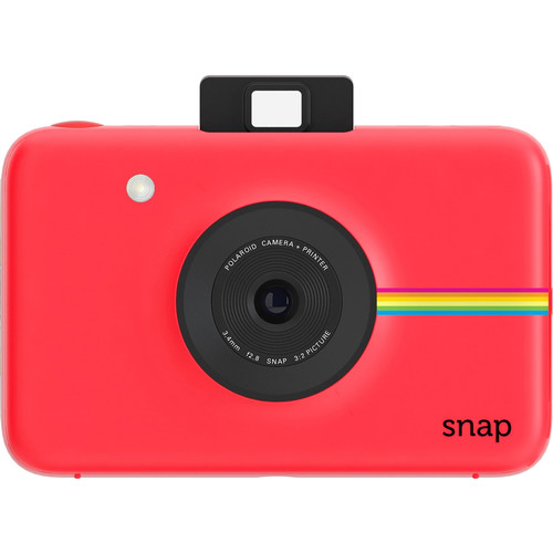 Polaroid Snap Instant Digital Camera with Pouch Kit (Red)