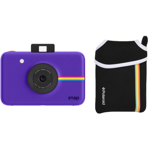 Polaroid Snap Instant Digital Camera with Pouch Kit (Purple)
