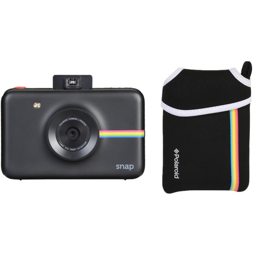 Polaroid Snap Instant Digital Camera with Pouch Kit (Black)