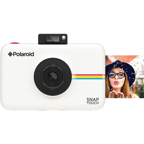 Polaroid Snap Touch Instant Digital Camera with ZINK Photo Paper and Pouch Kit (White)