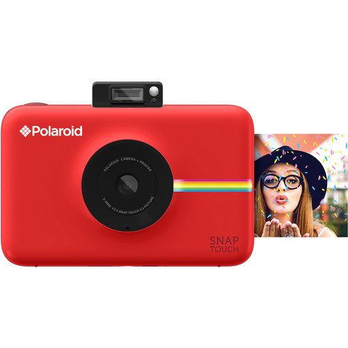Polaroid Snap Touch Instant Digital Camera with ZINK Photo Paper and Pouch Kit (Red)