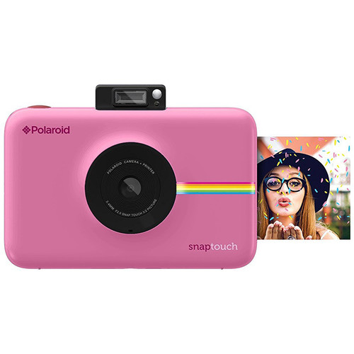 Polaroid Snap Touch Instant Digital Camera with ZINK Photo Paper and Pouch Kit (Pink)