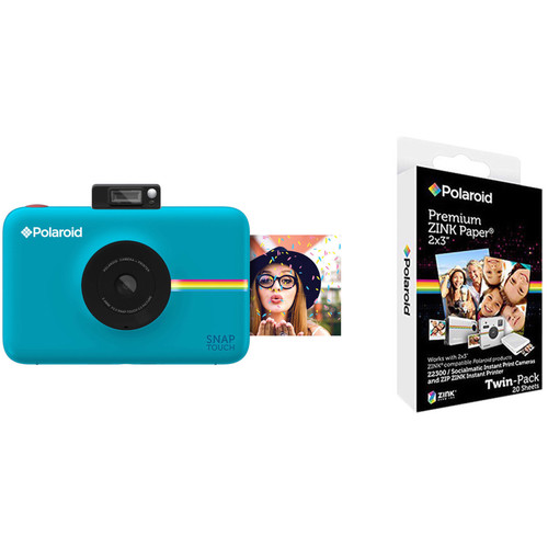 Polaroid Snap Touch Instant Digital Camera with ZINK Photo Paper Kit (Blue)
