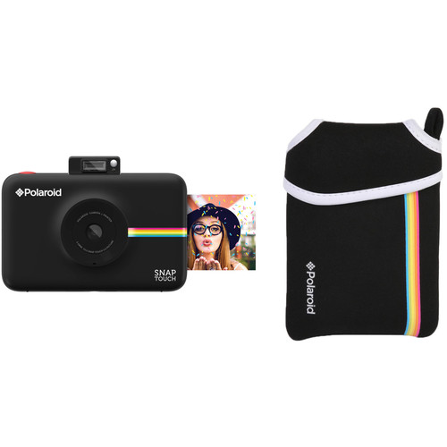 Polaroid Snap Touch Instant Digital Camera with Pouch Kit (Black)