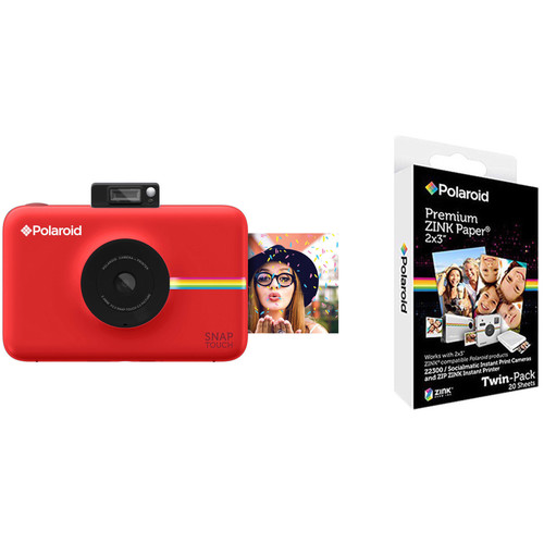 Polaroid Snap Touch Instant Digital Camera with ZINK Photo Paper Kit (Red)