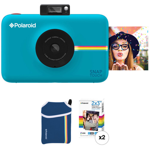 Polaroid Snap Touch Instant Digital Camera with ZINK Photo Paper and Pouch Kit (Blue)