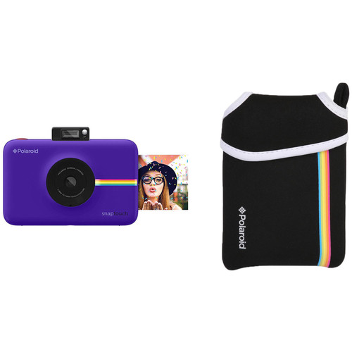 Polaroid Snap Touch Instant Digital Camera with Pouch Kit (Purple)