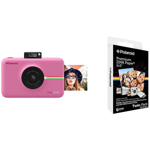 Polaroid Snap Touch Instant Digital Camera with ZINK Photo Paper Kit (Pink)