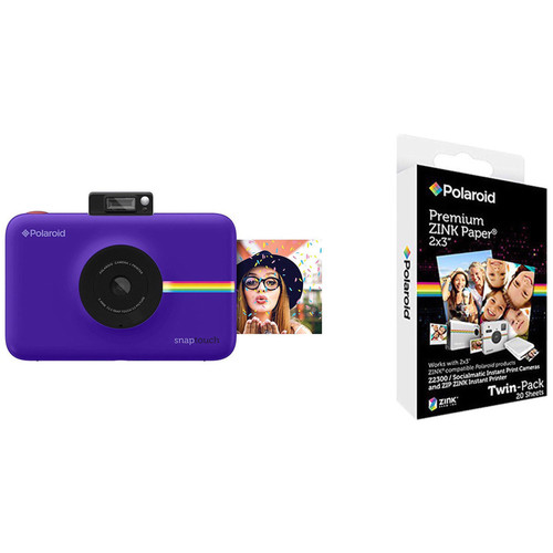 Polaroid Snap Touch Instant Digital Camera with ZINK Photo Paper Kit (Purple)