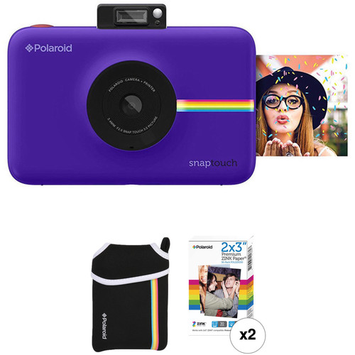 Polaroid Snap Touch Instant Digital Camera with ZINK Photo Paper and Pouch Kit (Purple)