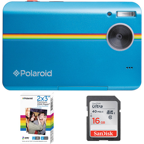 Polaroid Z2300 Instant Digital Camera with Paper & SD Card Kit (Blue)
