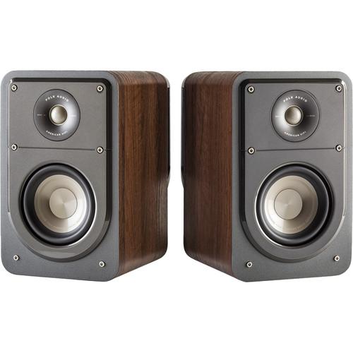 Polk Audio Signature Series S15 2-Way Bookshelf Speakers (Classic Brown Walnut, Pair)