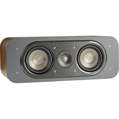 Polk Audio Signature Series S30 Two-Way Center Channel Speaker (Classic Brown Walnut)
