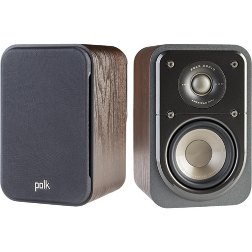 Polk Audio Signature Series S10 2-Way Surround Speakers (Classic Brown Walnut, Pair)