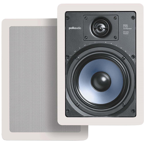 Polk Audio RC65i In-Wall Speakers (Pair/White)