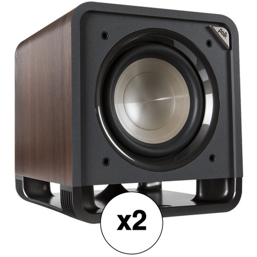 "Polk Audio HTS 10 10"" 200W Subwoofer Pair Kit (Classic Brown Walnut)"