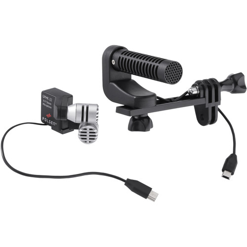 Polsen GPMK-22 GoPro Production Microphone Kit with Quick-Release Frame & Memory Card