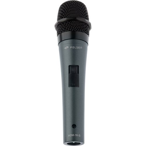 Polsen HDM-16-S Handheld Dynamic Mic with Stand and Windscreen Kit
