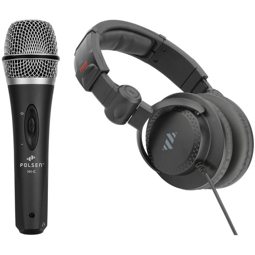 Polsen HH-IC Handheld Condenser Microphone and HPC-A30 Studio Headphones for Mobile Devices Kit