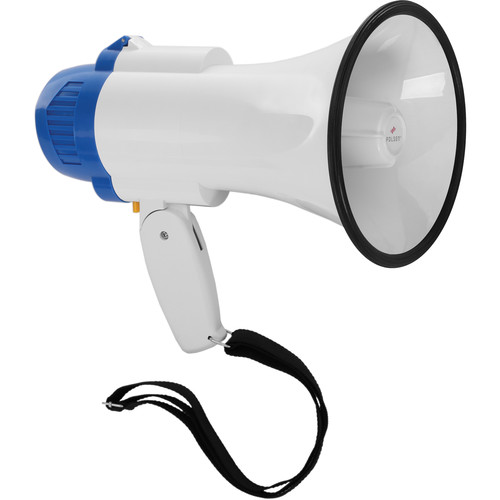 Polsen MP-10 10W Megaphone and Siren with D-Size Battery Kit