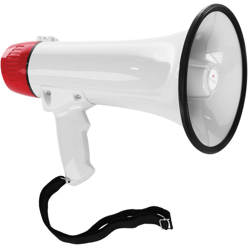 Polsen MP-15 15W Megaphone with Siren and Detachable Microphone, D-Size Battery Kit