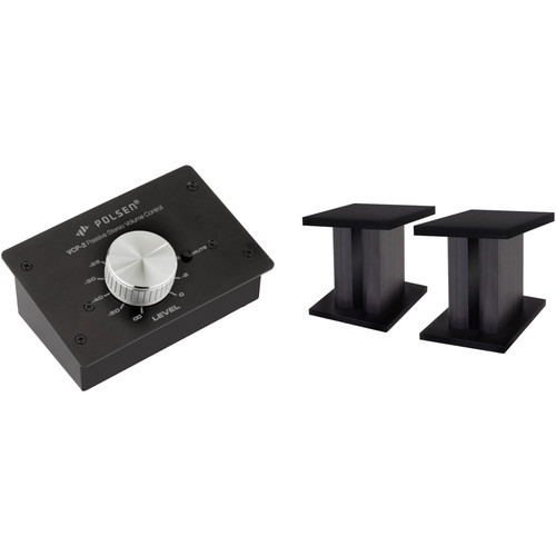 Polsen Passive Volume Controller and Desktop Monitor Stands Kit